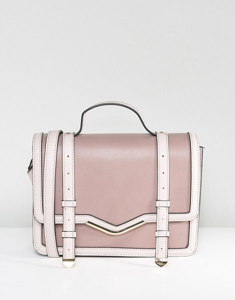 "ASOS Color Block Satchel Bag in pink - """"Bag by ASOS Collection, Faux leather outer, Fully..."