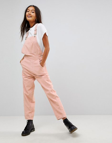 Asos DESIGN cord overall in pale pink in pink - Overalls by ASOS Collection, Classic pinafore design,...