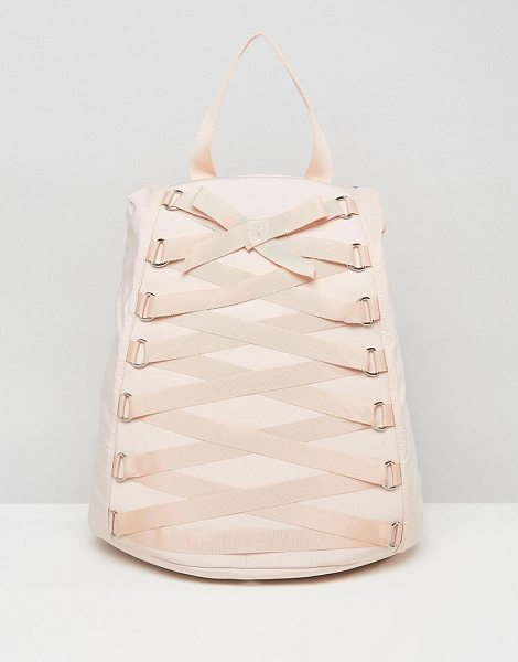 Asos Corset Detail Backpack in pink - Backpack by ASOS Collection, Durable canvas outer,...