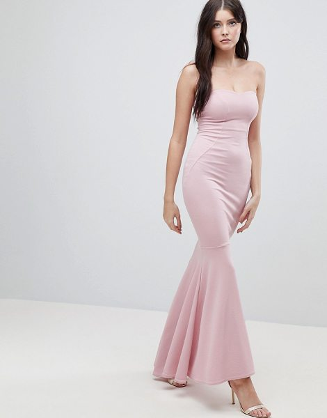 ASOS DESIGN asos crepe bandeau maxi fishtail dress in rose - Maxi dress by ASOS Collection, For that thing you RSVPd...