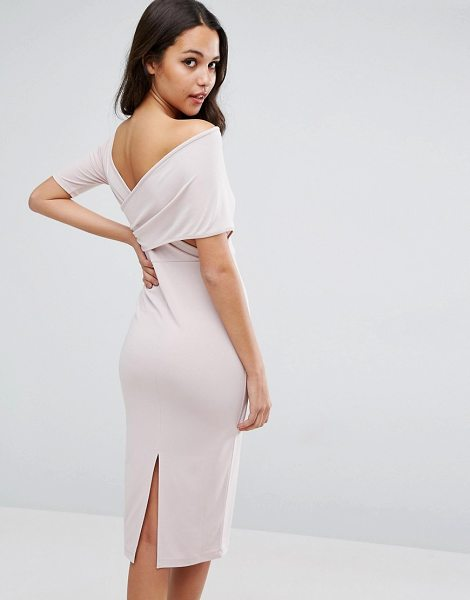 "ASOS Crepe Cross Back Asymmetric Midi Dress - """"Midi dress by ASOS Collection, Textured fabric,..."