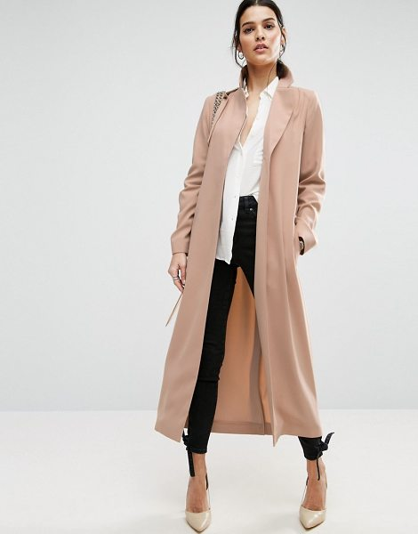 """Asos Crepe Duster Trench in pink - """"""""Trench by ASOS Collection, Smooth woven fabric, Notch..."""