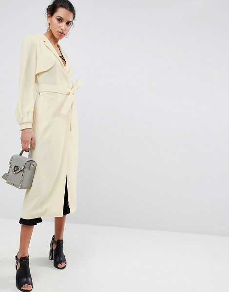 ASOS DESIGN crepe duster mac in nude - Trench by ASOS DESIGN, It s the return of the mac, Fully...