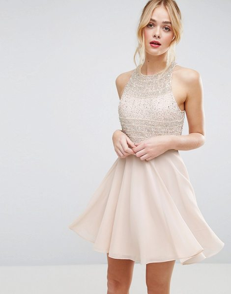 ASOS Crop Top Embellished Mini Skater Dress - Dress by ASOS Collection, Embellished top, Lined skirt,...