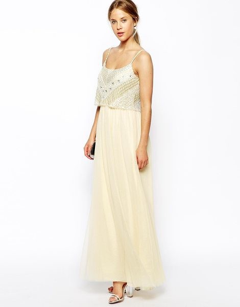 Asos Crop top maxi dress in cream - Maxi dress by ASOS Collection Made from a woven, silky...