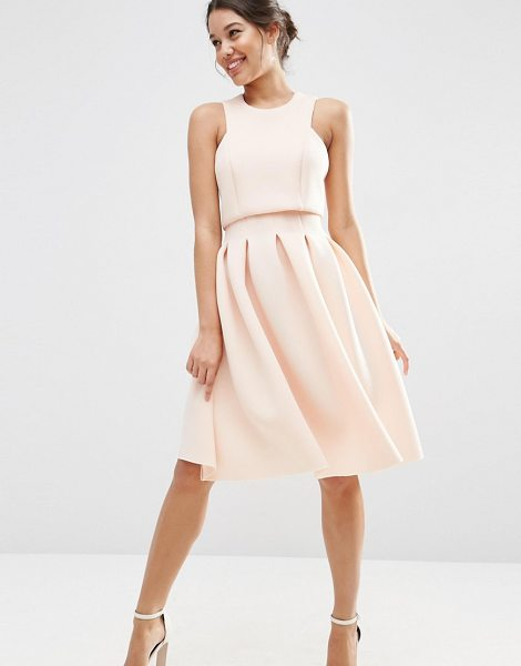 ASOS Crop Top Midi Scuba Dress - Dress by ASOS Collection, Lightweight scuba, Lined top,...