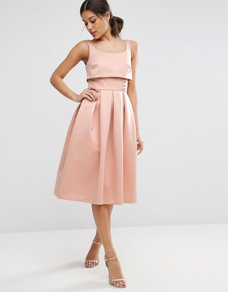 "ASOS Crop Top Prom Dress With Button Detail - """"Dress by ASOS Collection, Lined woven fabric, Scoop..."