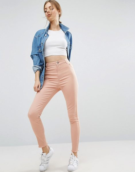 "ASOS DESIGN asos cut out side skinny pants in pink - """"Pants by ASOS Collection, Firm-stretch denim,..."