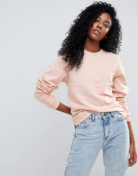 Asos Cute Sweat in pink - Sweatshirt by ASOS Collection, Crew neck, Plain design,...