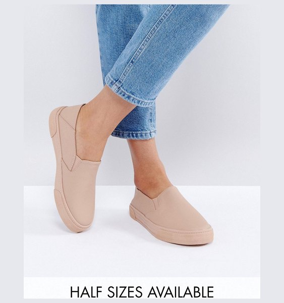 Asos DAHLIA Slip On Sneakers in nude