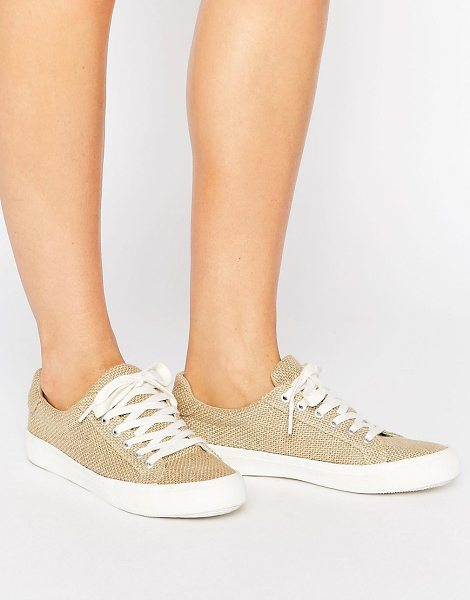 Asos DARBY Lace Up Sneakers in beige - Sneakers by ASOS Collection, Woven textile upper,...