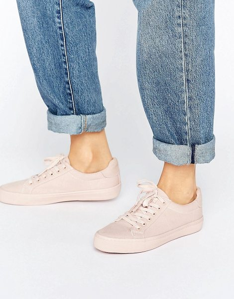 Asos DARBY Lace Up Sneakers in beige - Sneakers by ASOS Collection, Textile upper, Lace-up...