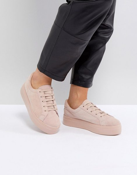 ASOS DESIGN asos day light suede lace up sneakers in pinksuede - Sneakers by ASOS Collection, Nothing beats a fresh pair...