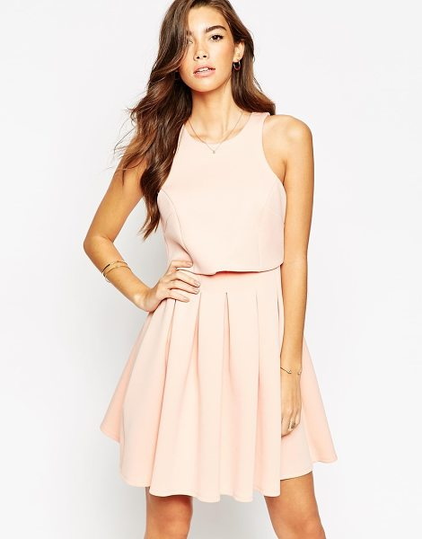 Asos Debutante mini with crop top dress in pink - Dress by ASOS Collection Mid-weight, scuba-style fabric...