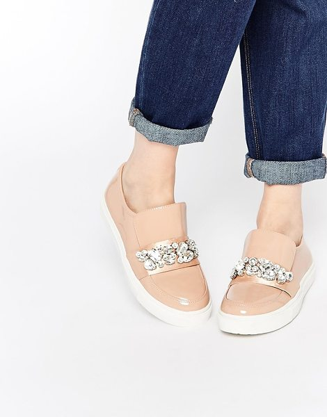 ASOS Delicate embellished sneakers - Sneakers by ASOS Collection, Patent leather look, Round...
