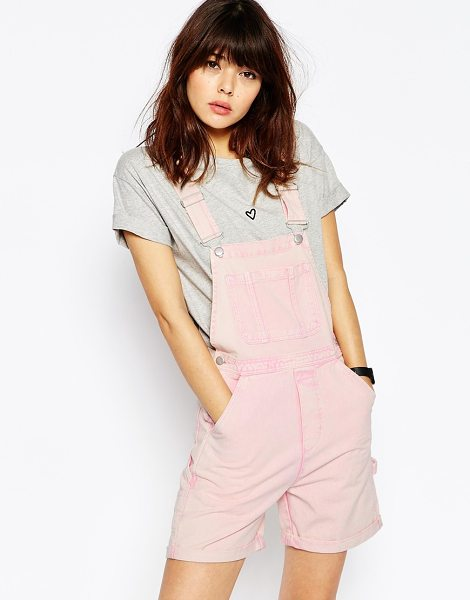ASOS Denim Short Overall - Overall by ASOS Collection, Mid-weight non-stretch pure...