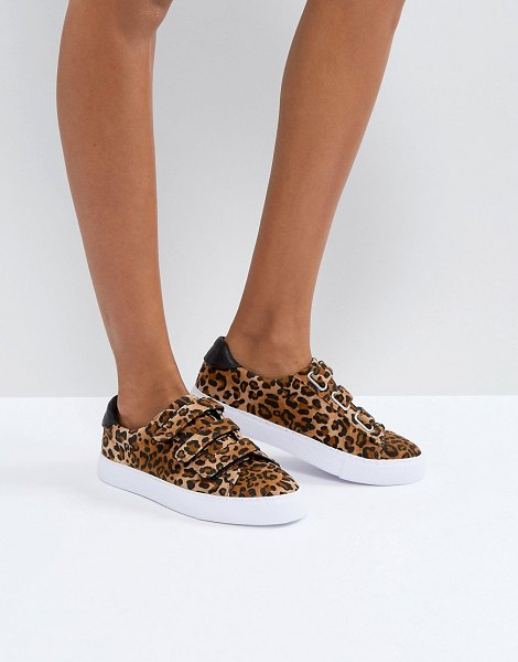 ASOS DESIGN asos didi strap sneakers in leopard - Sneakers by ASOS Collection, Textile upper, Leopard...