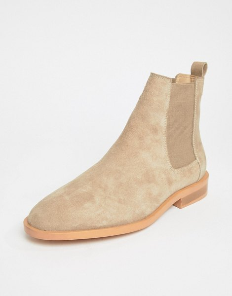 ASOS DESIGN aura suede chelsea ankle boots in sandsuede - Boots by ASOS DESIGN, Sweet looks from the ground up,...