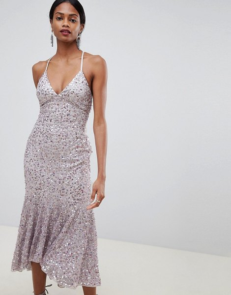 ASOS DESIGN cami midaxi dress in dustymauve - Dress by ASOS DESIGN, Take that dress code up a level,...