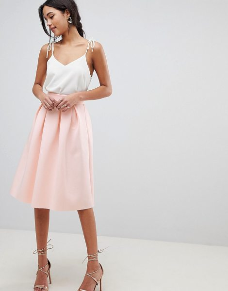 ASOS DESIGN midi prom skirt in nude - Skirt by ASOS DESIGN, High rise, Just like your...