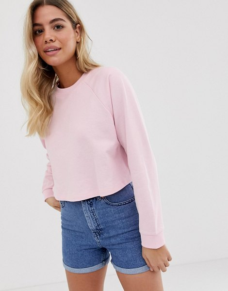ASOS DESIGN swing crop sweatshirt in pink in pink - Sweatshirt by ASOS DESIGN, Your casual vibe, sorted,...
