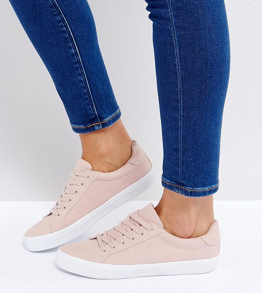 Asos DEVLIN Lace Up Sneakers in beige - Sneakers by ASOS Collection, Textile upper, Lace-up...