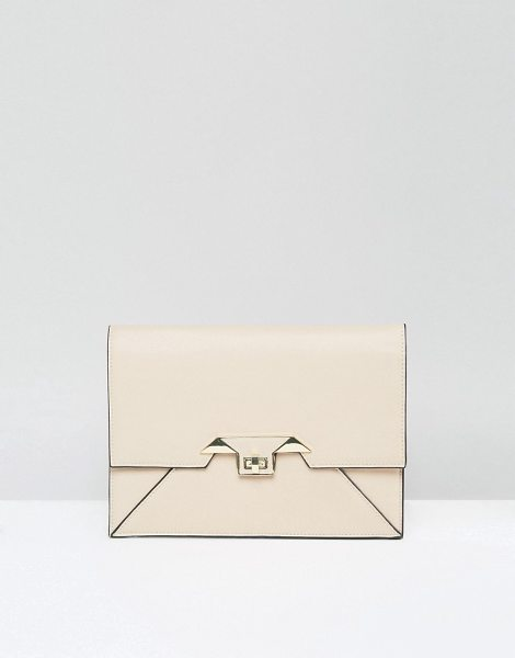 ASOS Diamond Twist Lock Clutch Bag - Clutch bag by ASOS Collection, Faux leather outer,...