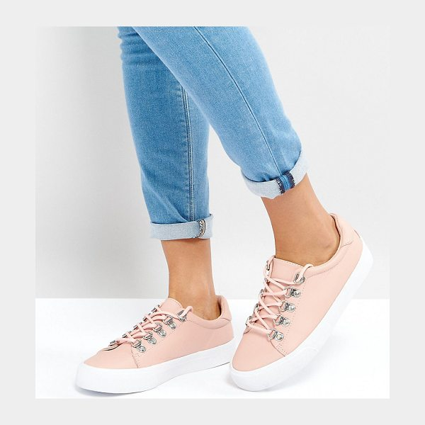 Asos DINOMITE Hiker Sneakers in beige - Sneakers by ASOS Collection, Faux-leather upper, Lace-up...
