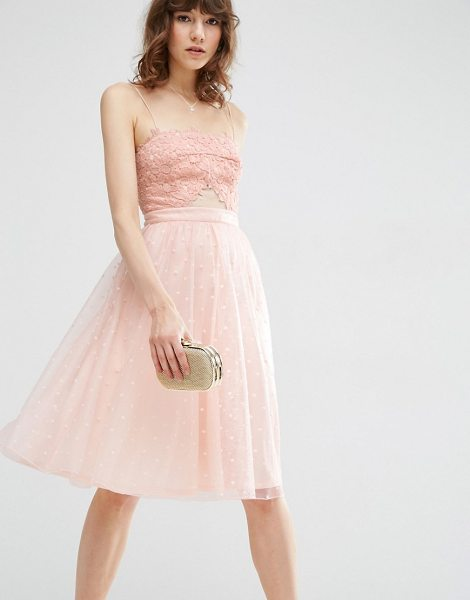 "ASOS Dobby Mesh Midi Lace Skater Dress - """"Skater dress by ASOS Collection, Knitted fabric,..."