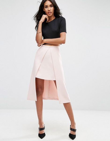 "Asos Double Layer Prom Skirt in pink - """"Skirt by ASOS Collection, Woven fabric, High-rise..."