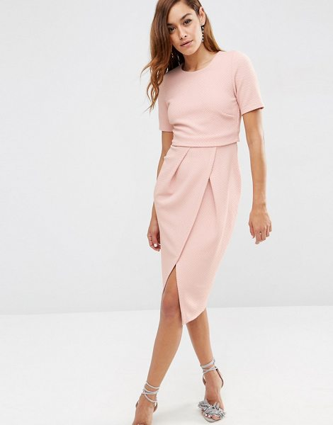 """ASOS Double Layer Textured Wiggle Dress - """"""""Dress by ASOS Collection, Textured jersey, Round..."""