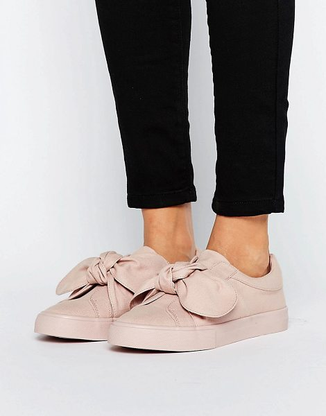 Asos DOUGHNUT Bow Sneakers in beige - Sneakers by ASOS Collection, Textile upper, Slip-on...