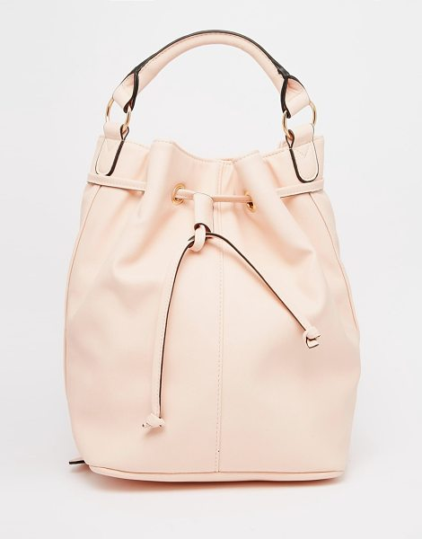 Asos Duffle Backpack in pink - Cart by ASOS Collection, Faux-leather outer, External...