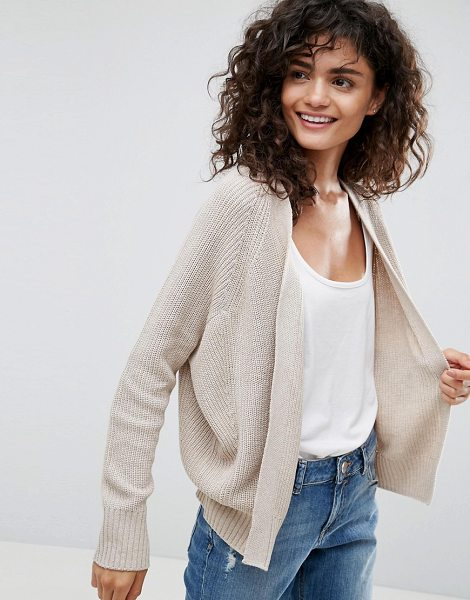 "Asos ECO Cardigan In Super Soft Yarn in beige - """"Cardigan by ASOS Collection, Made with recycled..."