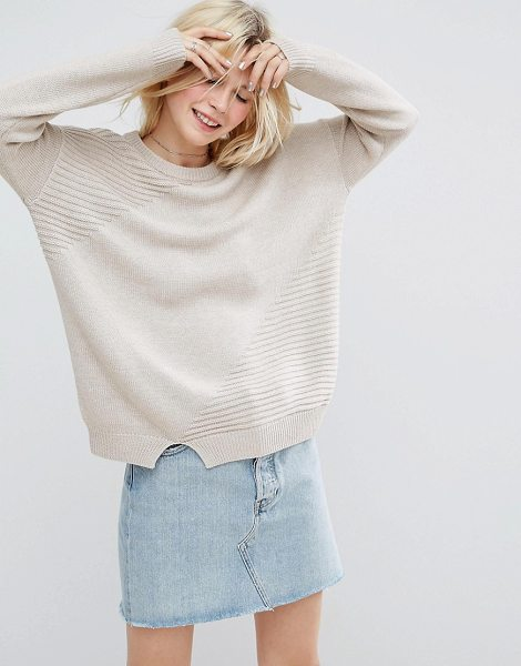 "Asos eco sweater in putty - """"Sweater by ASOS Collection, Made with recycled..."