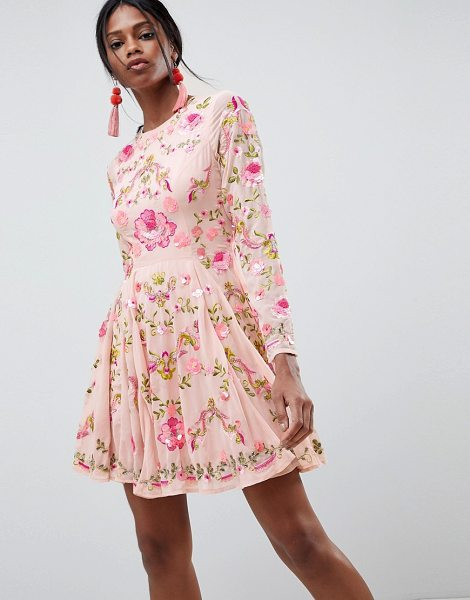 ASOS Edition beautiful embellished floral skater dress in pink - Skater dress by ASOS EDITION, For that thing you RSVPd...