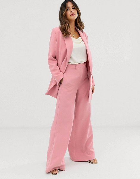 ASOS Edition wide leg pants-pink in pink