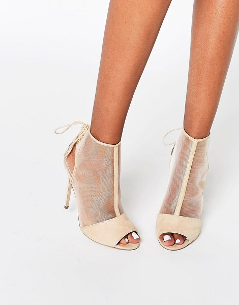 "ASOS ELIZABETH Peep Toe Mesh Shoe Boots - """"Boots by ASOS Collection, Faux suede upper, Mesh..."