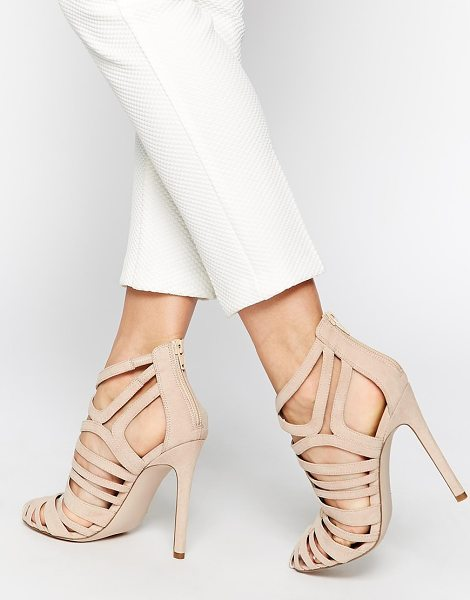 Asos Elko caged high heels in nude