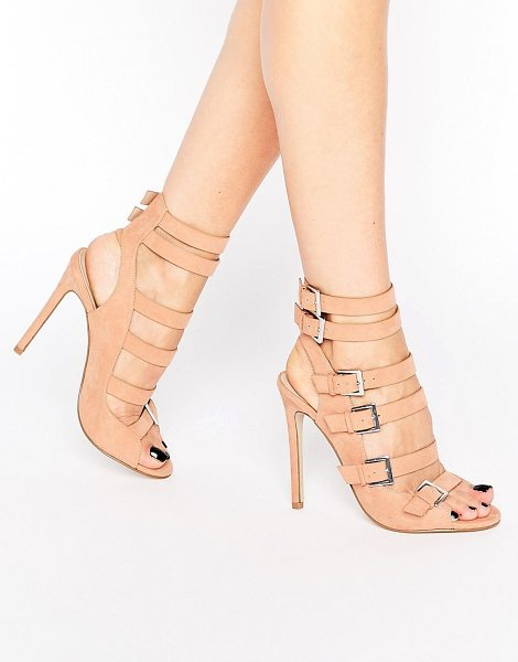 Asos EMBOR Multi Buckle Shoe Boots in beige - Shoes by ASOS Collection, Faux-suede upper, Multi-strap...