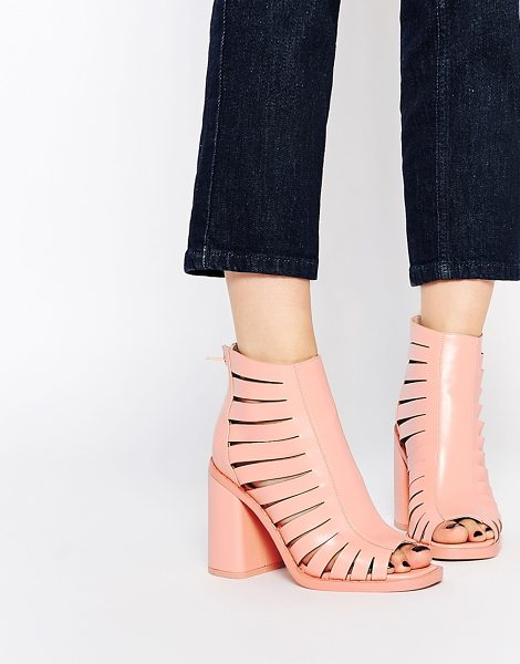 Asos End of time ankle boots in pink - Boots by ASOS Collection, Leather-look upper, Matte...