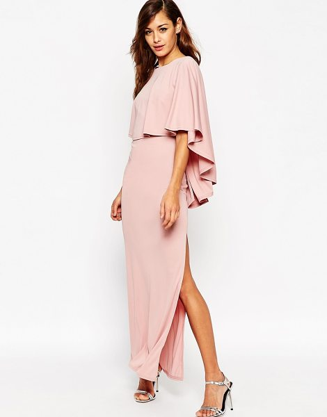 Asos Extreme cape maxi dress in mauve - Maxi dress by ASOS Collection Smooth, slinky fabric...