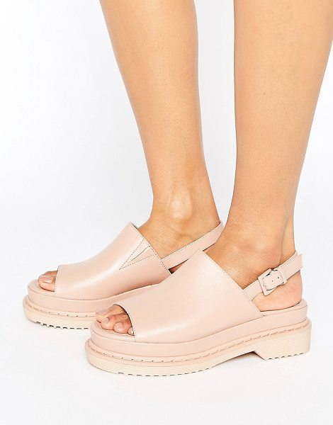 Asos FEASIBLE Chunky Sling Black Sandals in beige - Sandals by ASOS Collection, Faux-leather upper,...