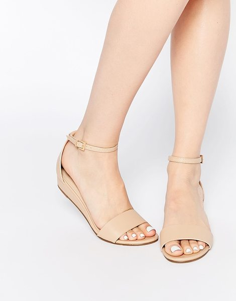Asos Flare two part sandals in nude - Sandals by ASOS Collection, Faux-leather upper, Pin...