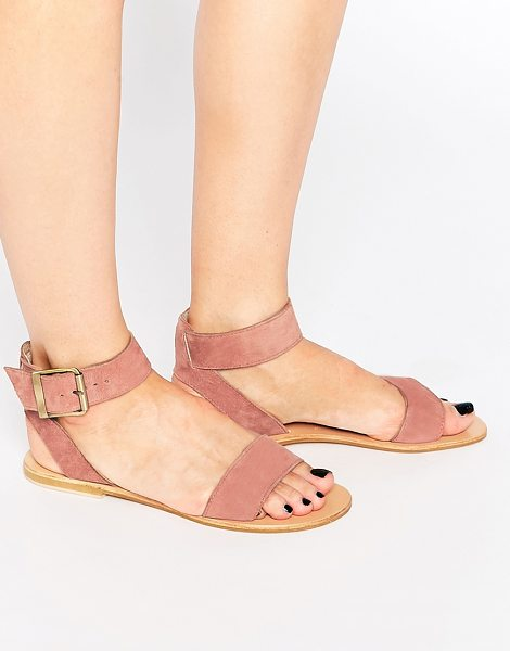 Asos Francis suede two part sandals in apricot - Sandals by ASOS Collection Suede upper Two part design...