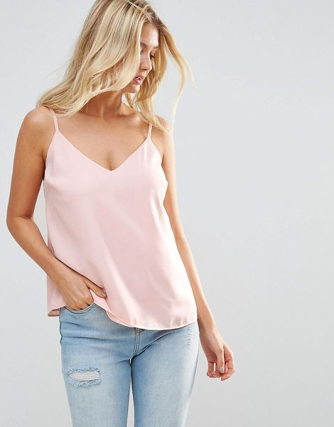 ASOS DESIGN fuller bust swing cami with double layer in blush - Top by ASOS Collection, Lightweight woven fabric,...