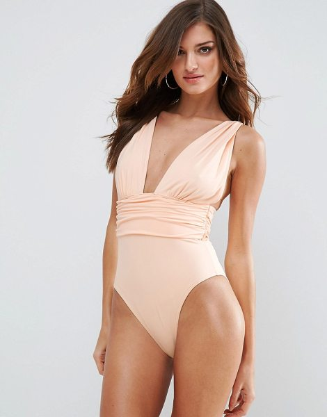 "ASOS Gathered Waist Band Swimsuit - """"Swimsuit by ASOS Collection, Sustainable fabric made..."