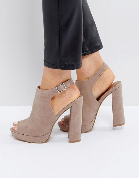 "Asos HAIL Shoe Boot Platforms in beige - """"Platform shoes by ASOS Collection, Faux-suede upper,..."