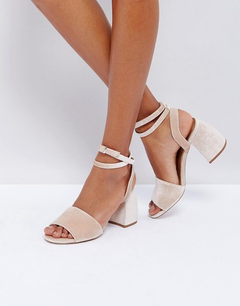 Asos hamper heeled sandals in pinkvelvet