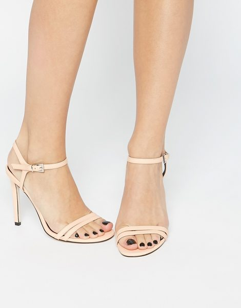 Asos HAPHAZARD Heeled Sandals in beige - Sandals by ASOS Collection, Leather-look upper, Matte...